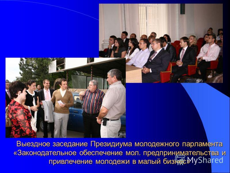 Выездное заседание Президиума молодежного парламента «Законодательное обеспечение мол. предпринимательства и привлечение молодежи в малый бизнес»