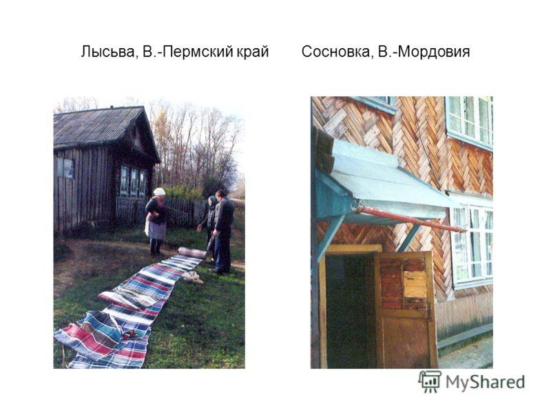 Лысьва, В.-Пермский крайСосновка, В.-Мордовия