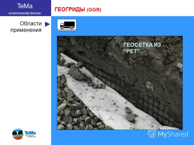 TeMa environmental division Области применения ГЕОГРИДЫ (GGR) ГЕОСЕТКА ИЗ PET