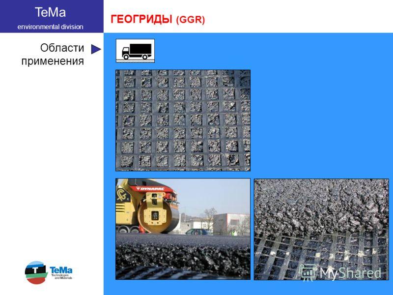 TeMa environmental division Области применения ГЕОГРИДЫ (GGR)
