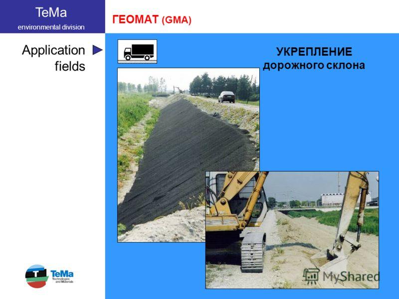 TeMa environmental division Application fields ГЕОМАТ (GMA) УКРЕПЛЕНИЕ дорожного склона