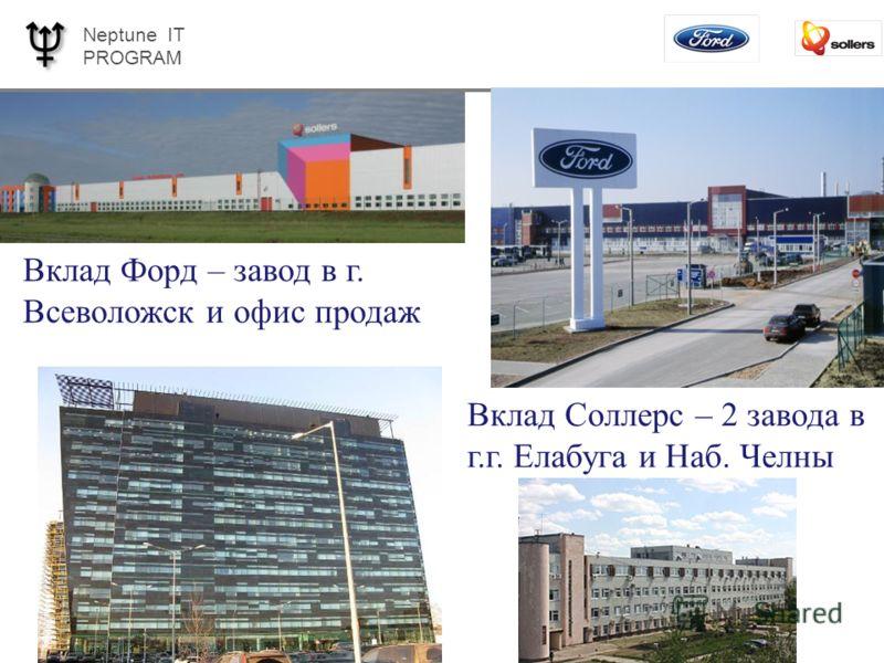 Neptune IT PROGRAM Page 4 Вклад Форд – завод в г. Всеволожск и офис продаж Вклад Соллерс – 2 завода в г.г. Елабуга и Наб. Челны