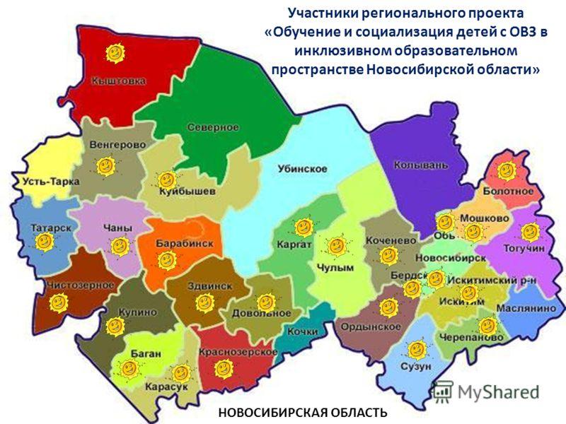 Участники регионального проекта «Обучение и социализация детей с ОВЗ в инклюзивном образовательном пространстве Новосибирской области» НОВОСИБИРСКАЯ ОБЛАСТЬ