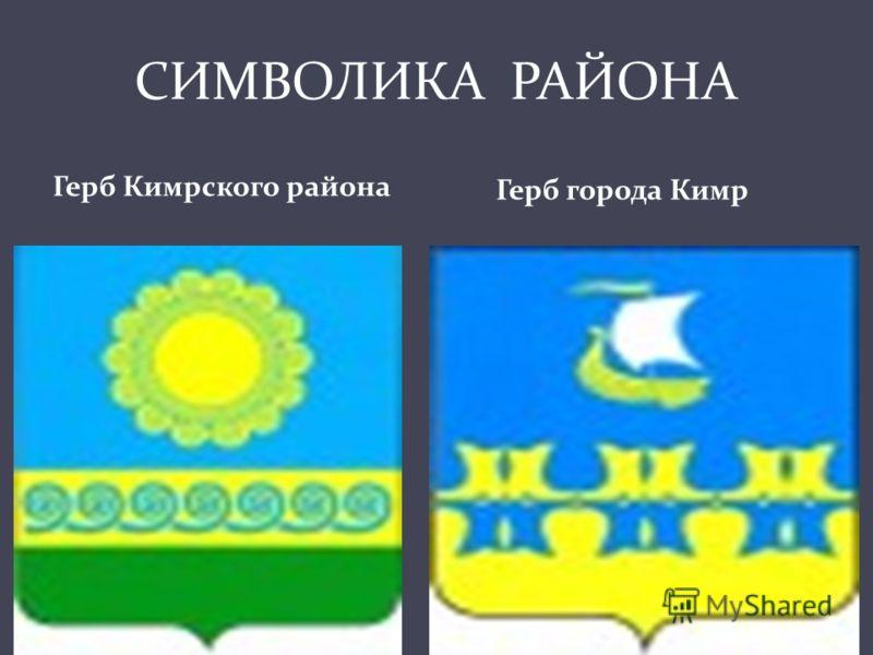 СИМВОЛИКА РАЙОНА Герб Кимрского района Герб города Кимр
