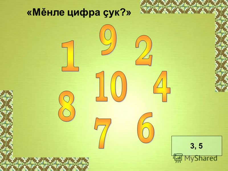 «Мěнле цифра çук?» 3, 5