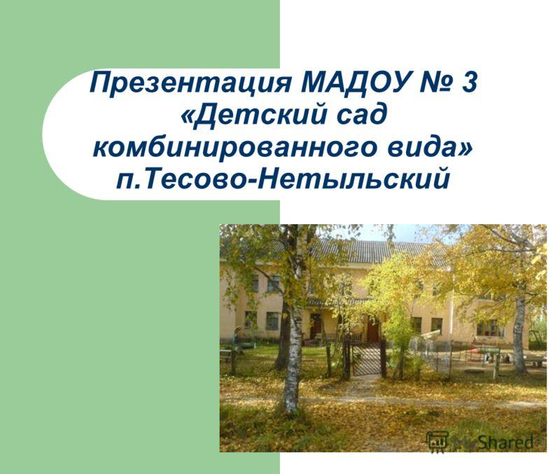 Презентация МАДОУ 3 «Детский сад комбинированного вида» п.Тесово-Нетыльский