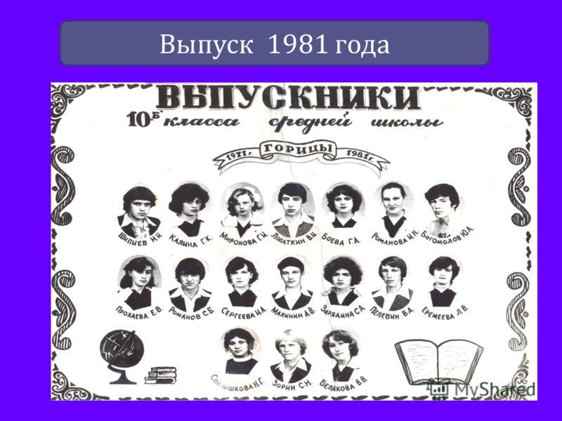 Выпуск 1981 года