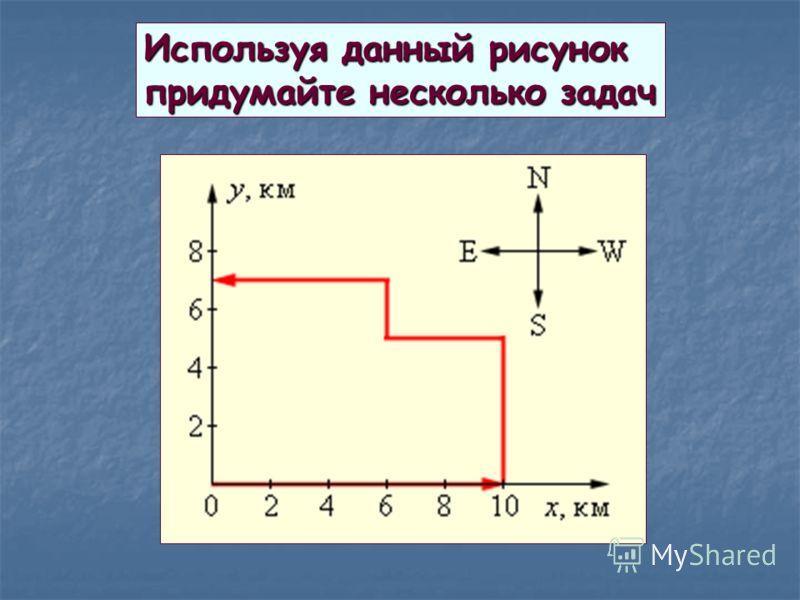 Используя данный рисунок придумайте несколько задач