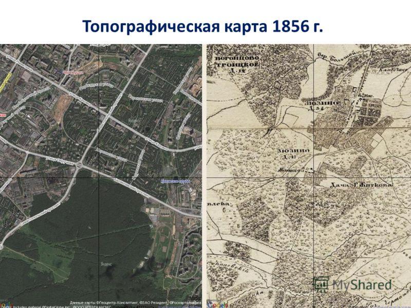 Топографическая карта 1856 г.