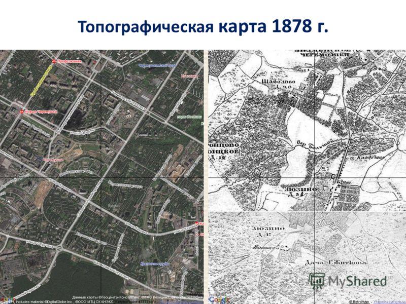 Топографическая карта 1878 г.