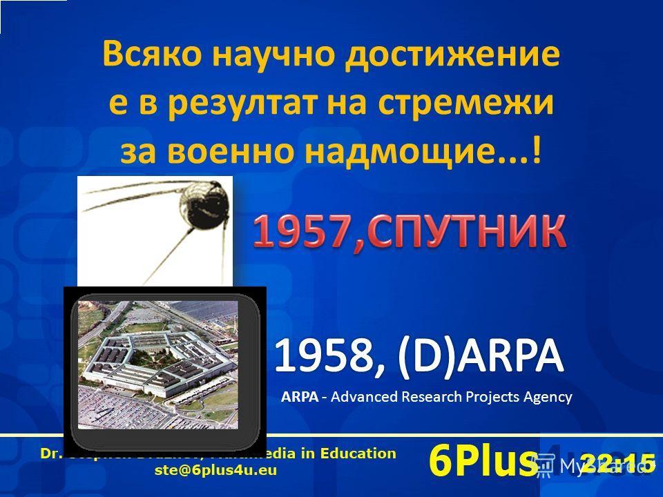 22:16 Всяко научно достижение е в резултат на стремежи за военно надмощие...! 4 ARPA - Advanced Research Projects Agency