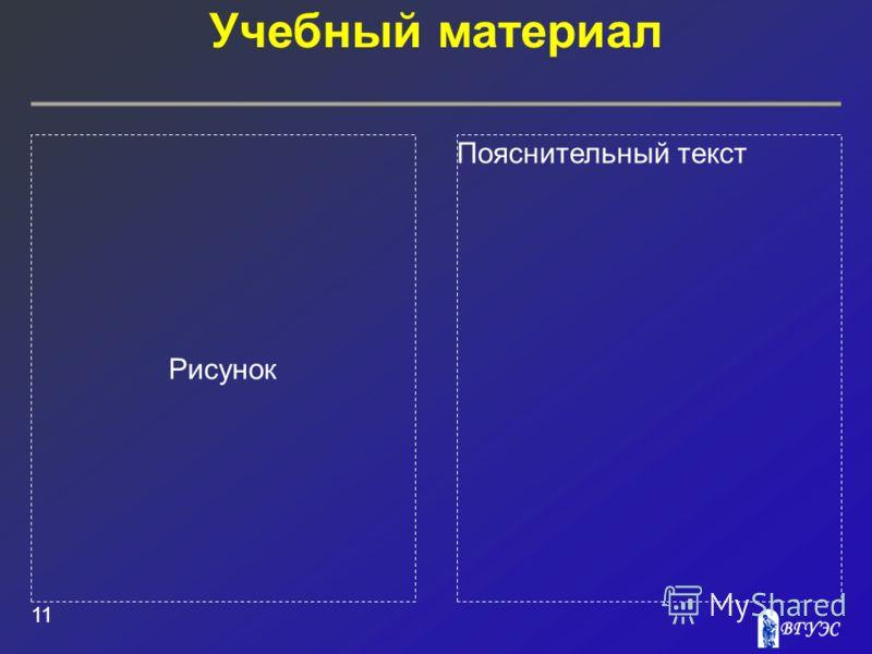 Рисунок Пояснительный текст Учебный материал 11