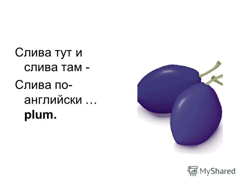 Слива тут и слива там - Слива по- английски … plum.