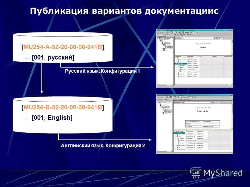 [MU254-A-32-20-00-00-941B] [001, русский] [MU254-B-32-20-00-00-941B] [001, English] Русский язык. Конфигурация 1 Публикация вариантов документацииc Английский язык. Конфигурация 2