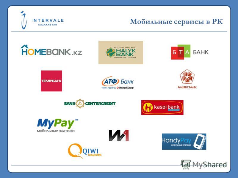 19,7 млн. 2011 >5,3 млрд. 2011 Мобильные сервисы в РК