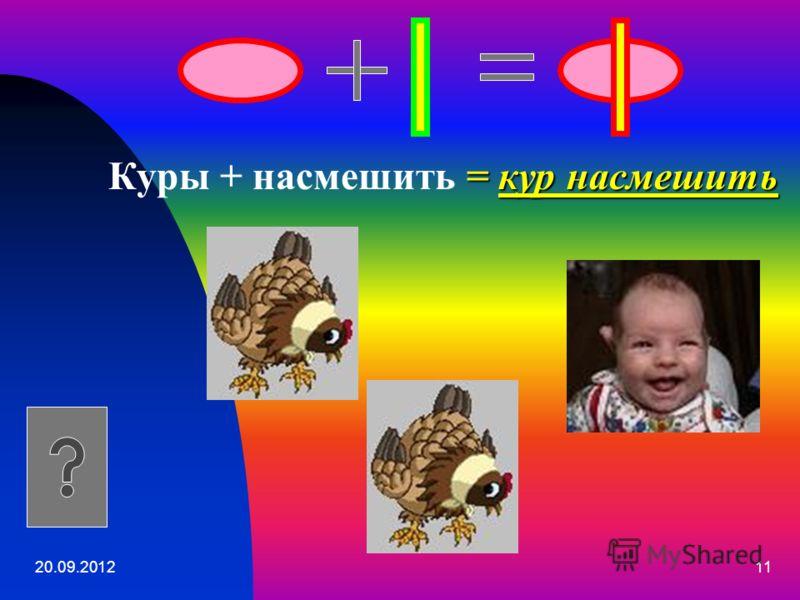 20.09.201211 = кур насмешить Куры + насмешить = кур насмешить