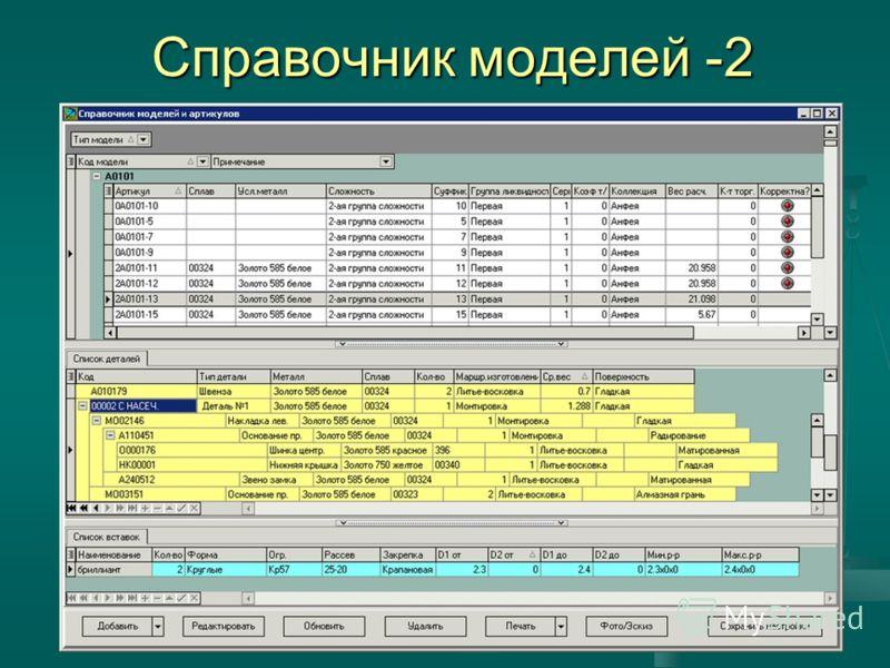 7 Справочник моделей -2
