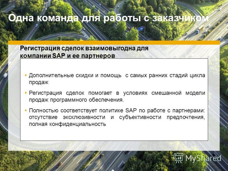 ©2012 SAP AG. All rights reserved.13 Дополнительные скидки и помощь с самых ранних стадий цикла продаж Регистрация сделок помогает в условиях смешанной модели продаж программного обеспечения. Полностью соответствует политике SAP по работе с партнерам
