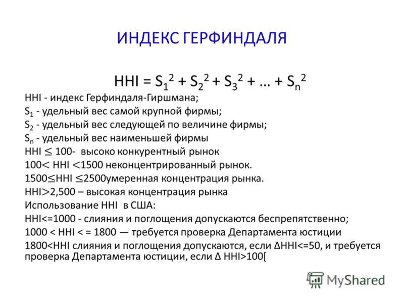 ИНДЕКС ГЕРФИНДАЛЯ