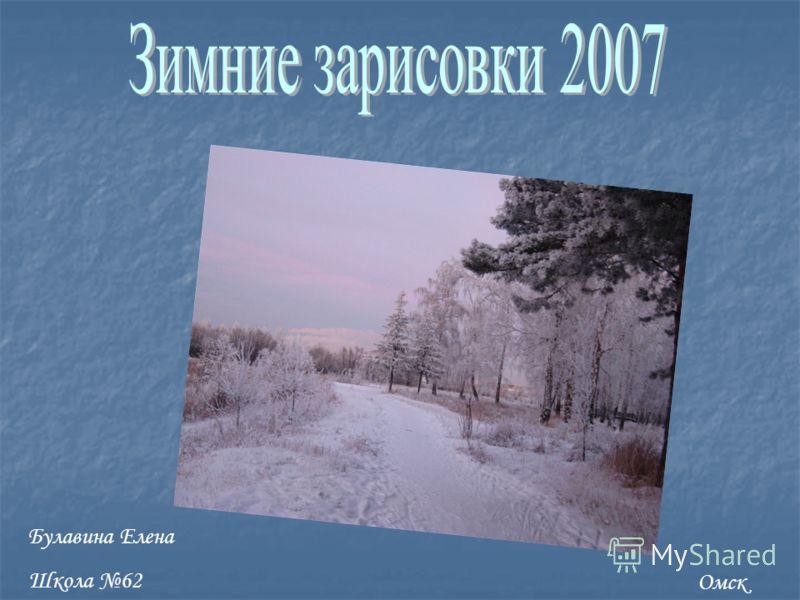 Омск Булавина Елена Школа 62