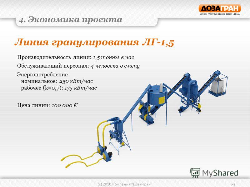 Линия гранулирования ЛГ-1,5 23 (с) 2010 Компания
