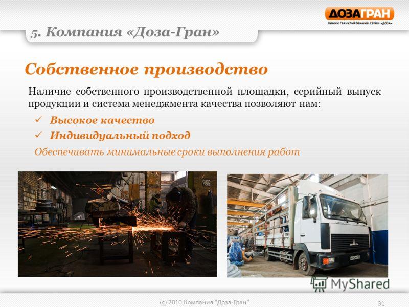 Собственное производство 31 (с) 2010 Компания