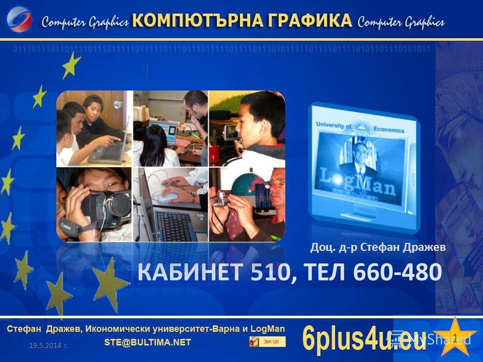 КАБИНЕТ 510, ТЕЛ 660-480 19.5.2014 г. Доц. д-р Стефан Дражев 1