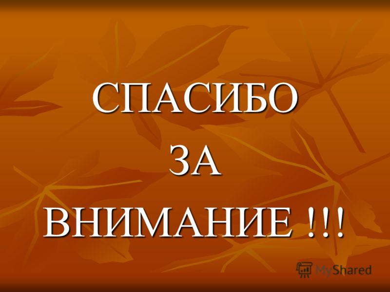 СПАСИБОЗА ВНИМАНИЕ !!!