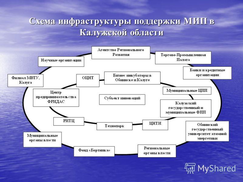 Схема инфраструктуры поддержки МИП в Калужской области