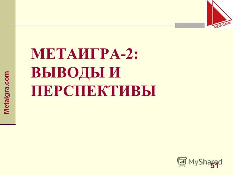 Metaigra.com 51 МЕТАИГРА-2: ВЫВОДЫ И ПЕРСПЕКТИВЫ
