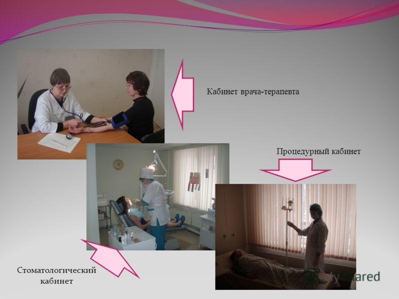 Кабинет врача-терапевта Процедурный кабинет Стоматологический кабинет