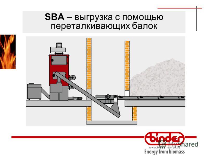 SBA – выгрузка с помощью переталкивающих балок