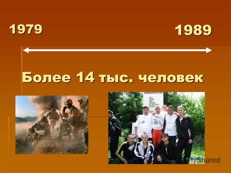 1979 1989 Более 14 тыс. человек