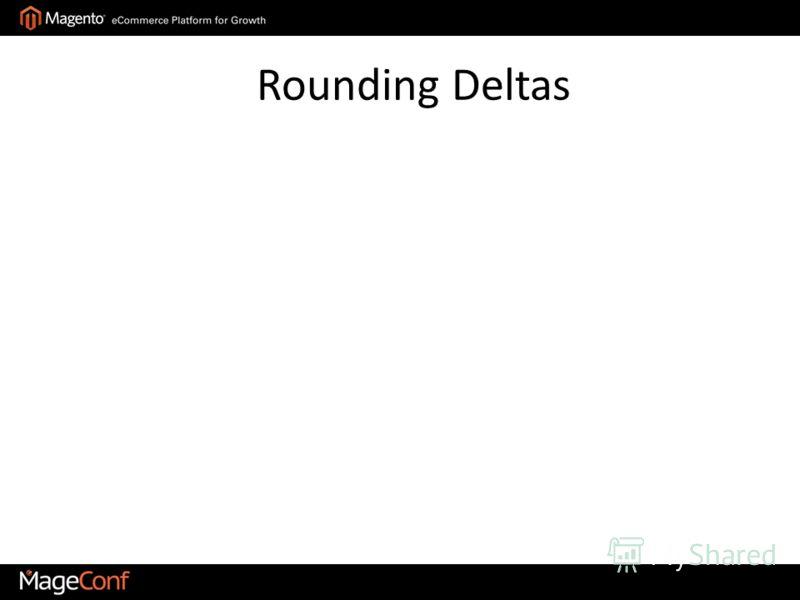 Rounding Deltas