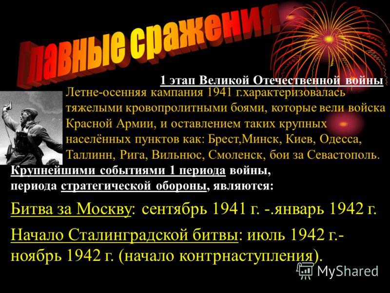 Работа Самедова Эмиля Этапы Великой Отечественной войны