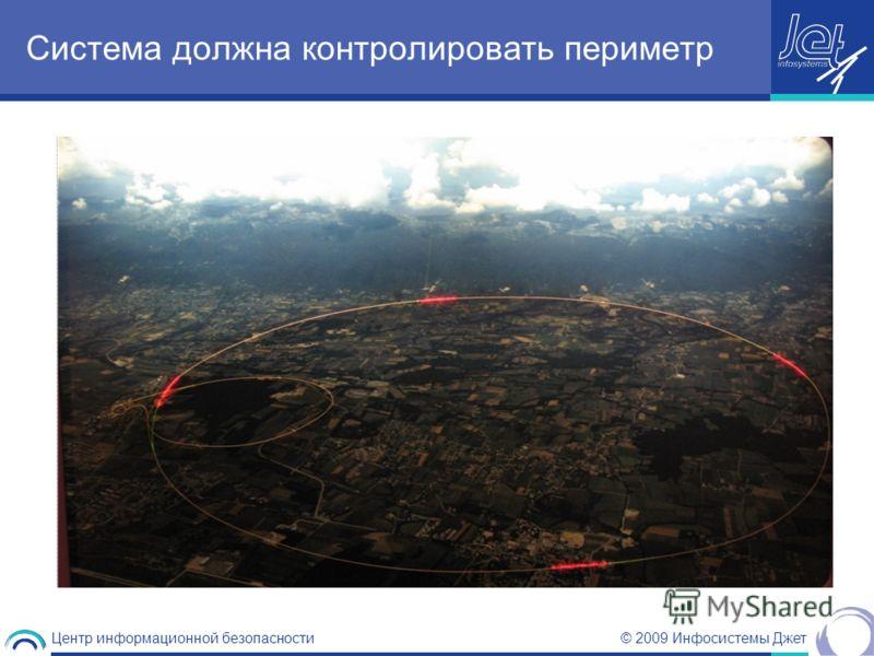 © 2009 Инфосистемы Джет Центр информационной безопасности Система должна контролировать периметр