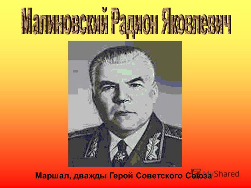 Маршал, дважды Герой Советского Союза