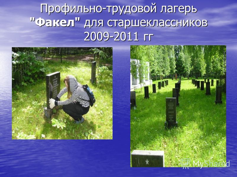 Профильно-трудовой лагерь Факел для старшеклассников 2009-2011 гг