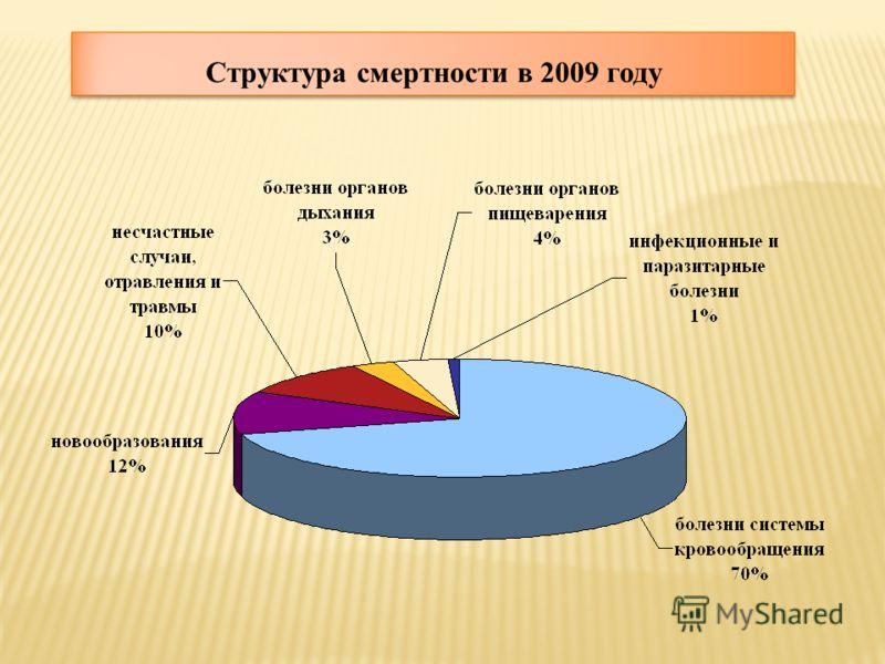 Структура смертности в 2009 году