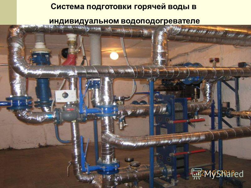 Система подготовки горячей воды в индивидуальном водоподогревателе