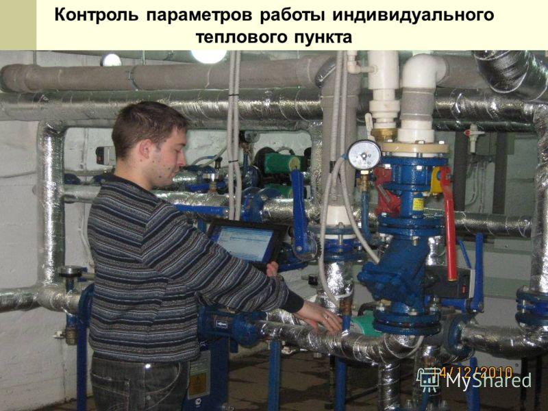 Контроль параметров работы индивидуального теплового пункта