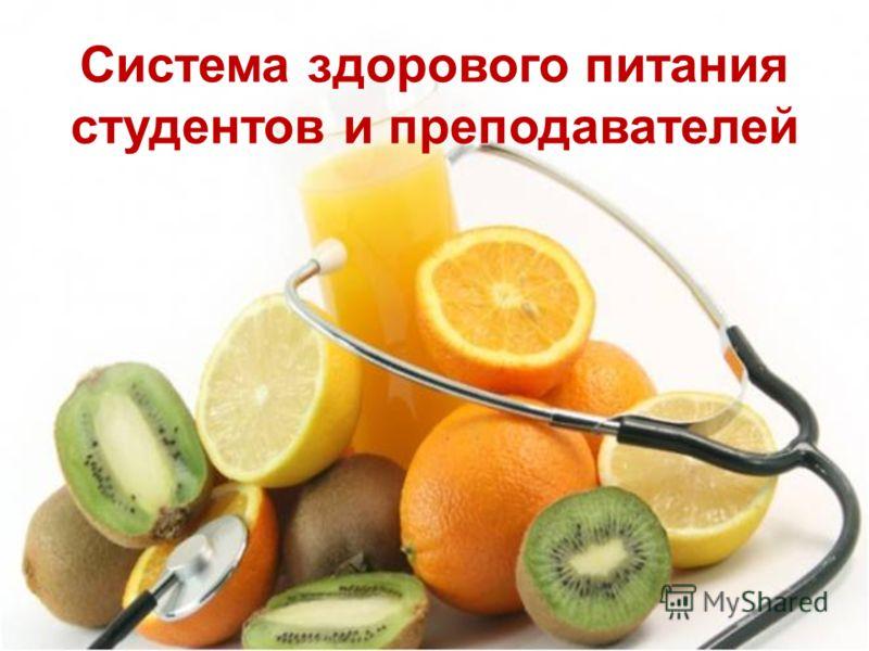 система здорового питания для похудения меню