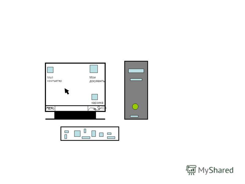 Мой компьютер карзина Мои документы