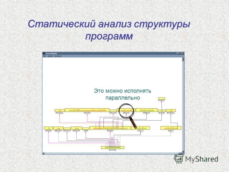 Статический анализ структуры программ Это можно исполнять параллельно