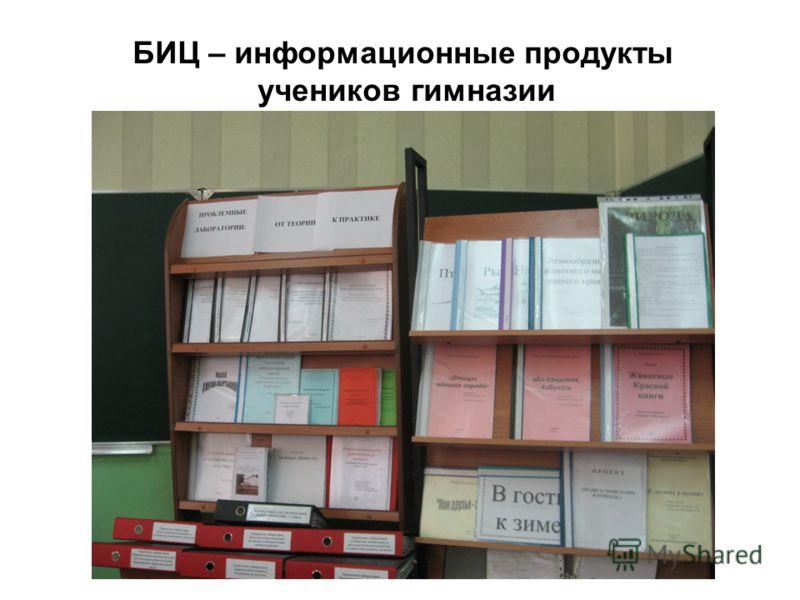 БИЦ – информационные продукты учеников гимназии