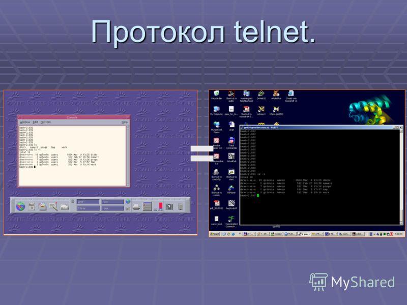 Протокол telnet. =