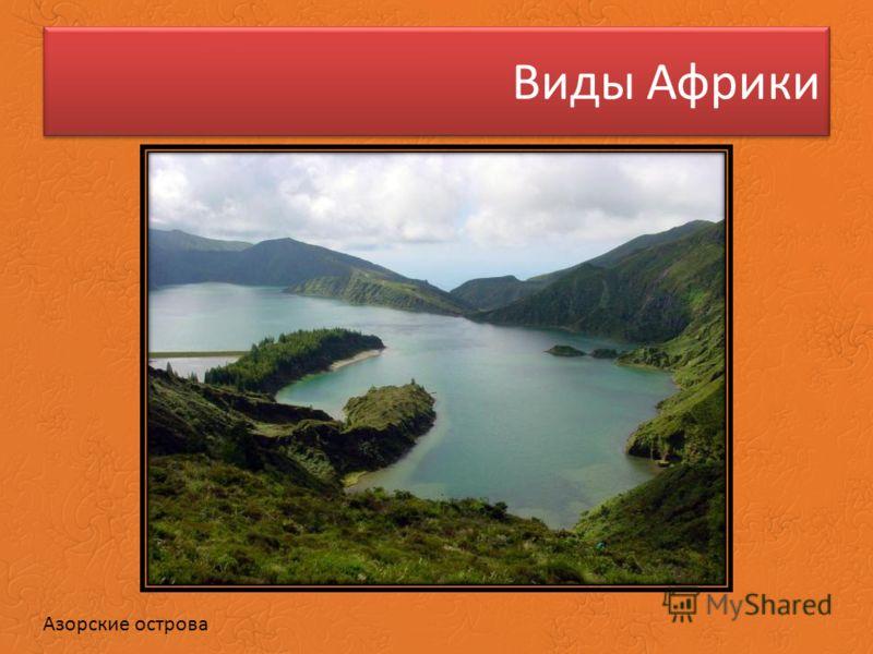 Виды Африки Азорские острова