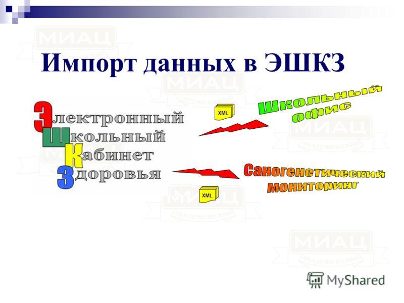 Импорт данных в ЭШКЗ XML