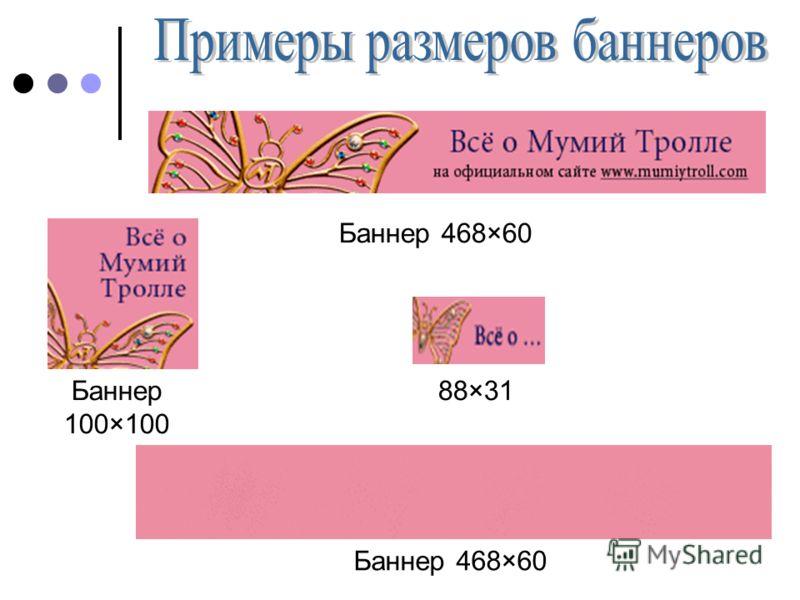 Баннер 468×60 Баннер 100×100 88×31 Баннер 468×60