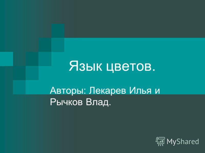 Язык цветов. Авторы: Лекарев Илья и Рычков Влад.